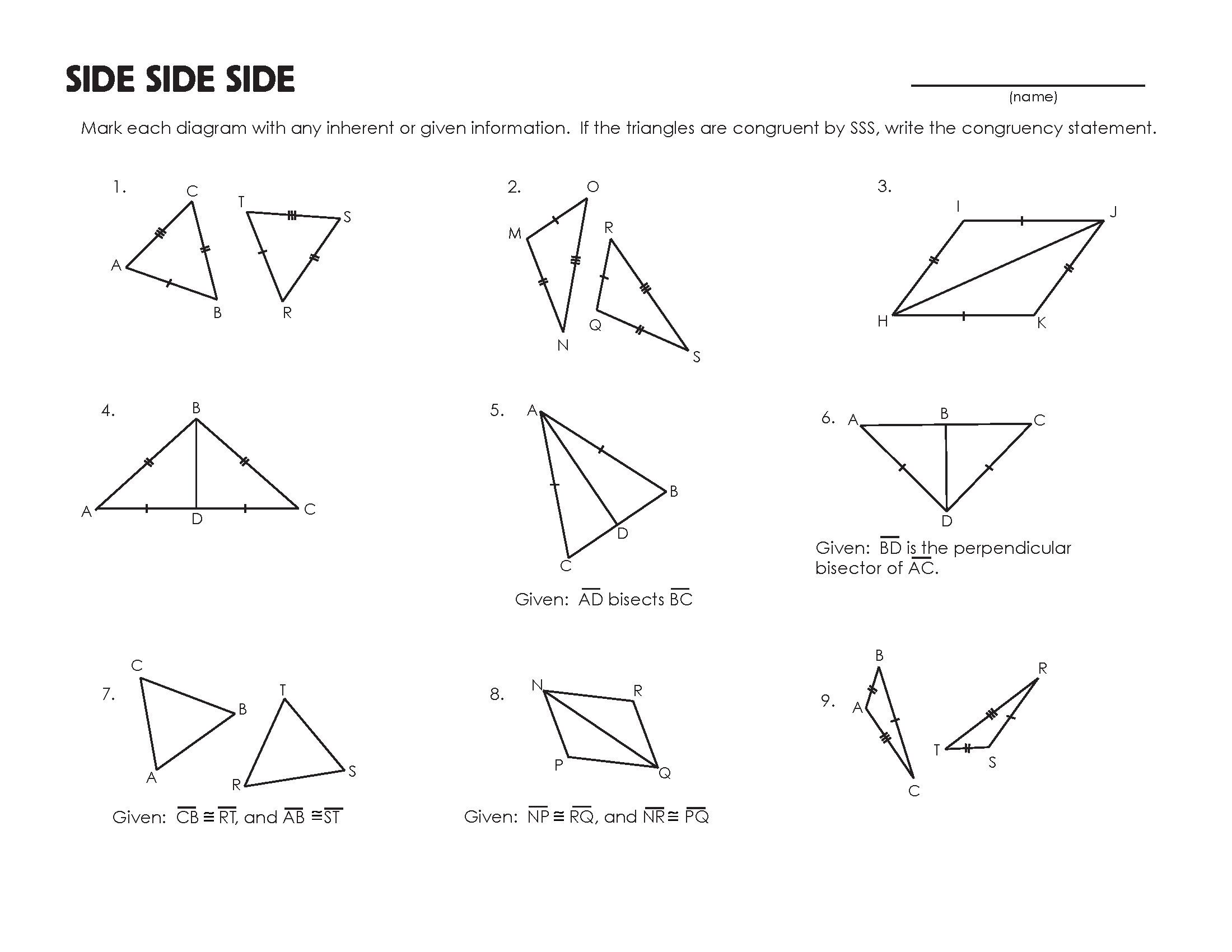 {Congruent Triangles Worksheet – Congruent Triangles Worksheet